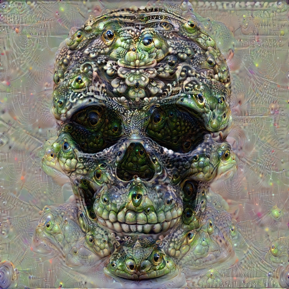 Deep Dream Skull