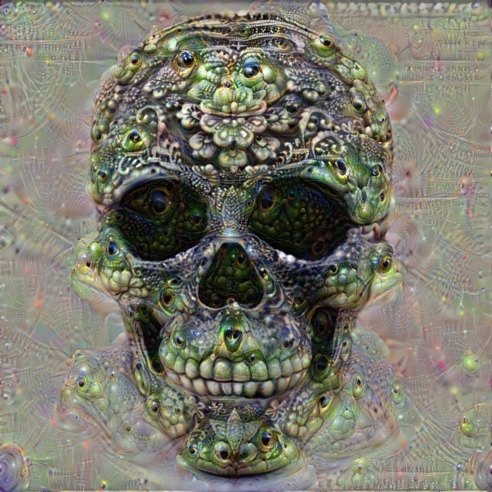 Deep Dream Skull