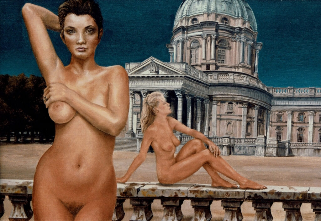 "Oil Paint: ""Baroque"", to nudes with palace"